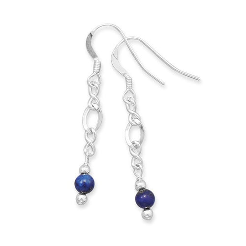 Baila Luna Lapis Lazuli Drop Earrings in Sterling Silver