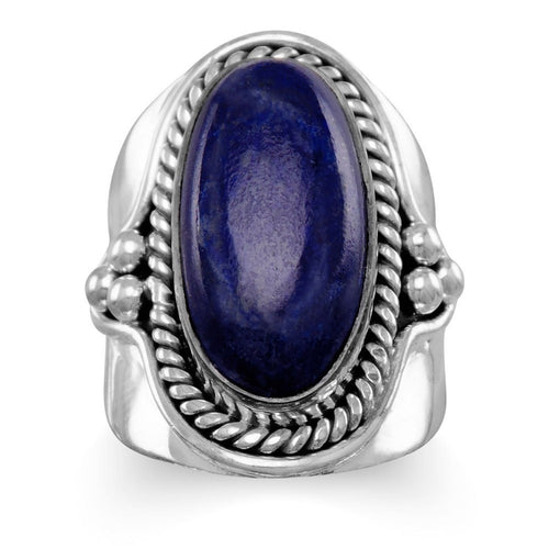 Lapis Lazuli Ring in Oxidized Sterling Silver