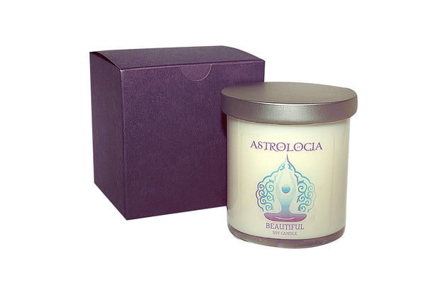 Astrologia BEAUTIFUL Soy Candle 8 oz with Gift Box
