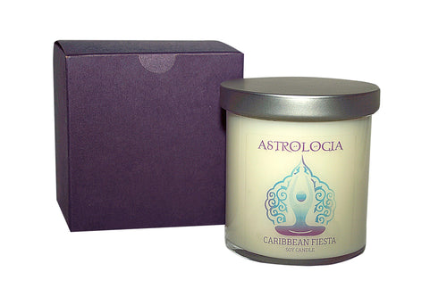 Astrologia CARIBBEAN FIESTA Soy Candle 8 oz with Gift Box
