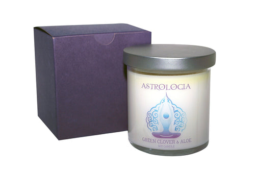 Astrologia GREEN CLOVER & ALOE Soy Candle 8 oz with Gift Box