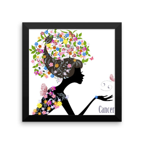 Cancerian Goddess Framed photo paper poster