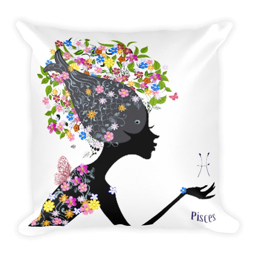 Piscean Goddess Square Pillow