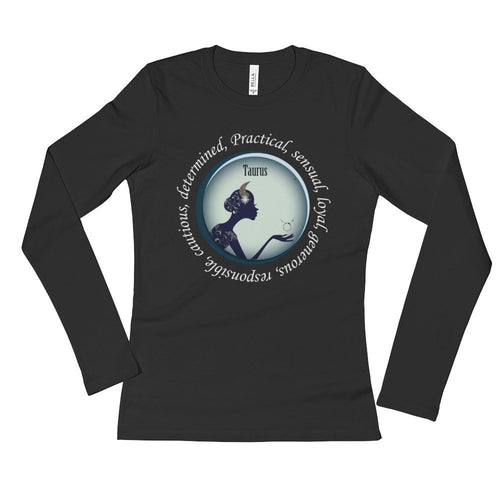 Taurus Girl Ladies' Long Sleeve T-Shirt