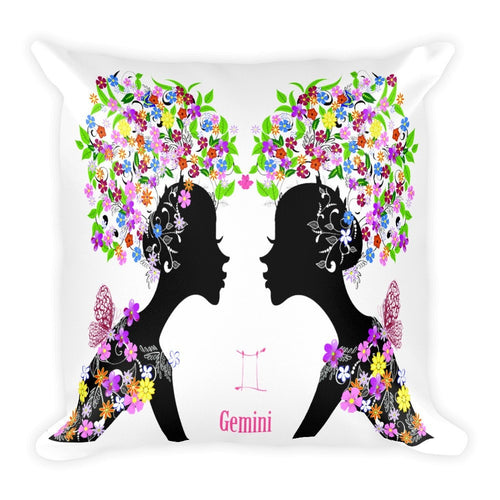 Geminian Goddess Square Pillow