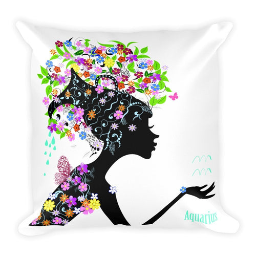 Aquarian Goddess Square Pillow