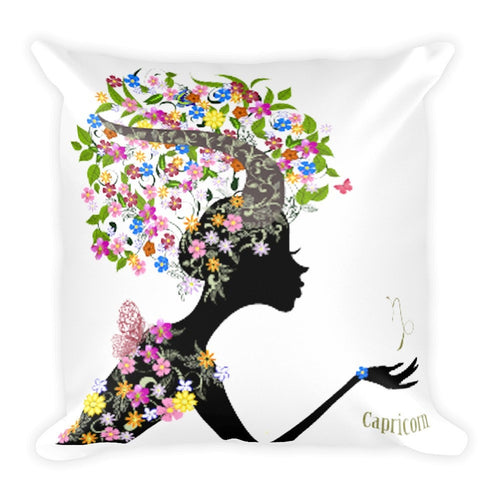 Capricornian Goddess Square Pillow