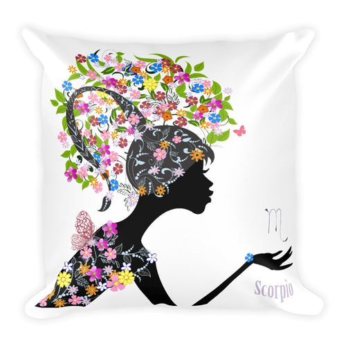 Scorpian Square Pillow