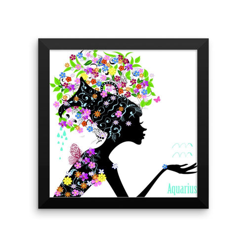 Aquarian Goddess Framed photo paper poster