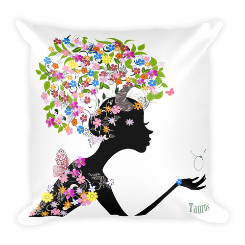 Taurean Goddess Square Pillow