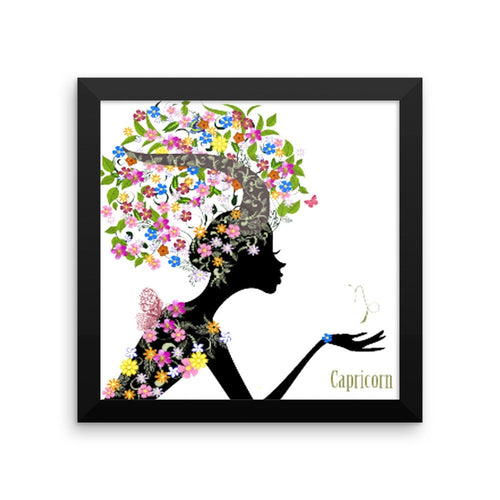Capricornian Goddess Framed photo paper poster