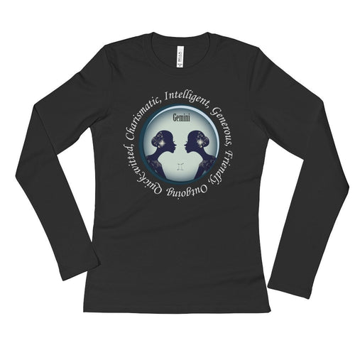 Gemini Girl- Ladies' Long Sleeve T-Shirt