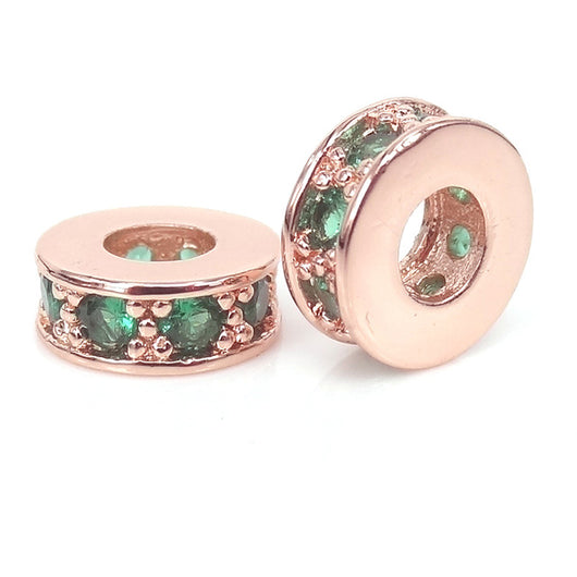 Rose Emerald Small Spacers