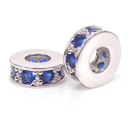 Silver Deep Blue Small Spacers