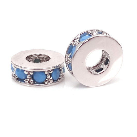 Silver Blue Small Spacers