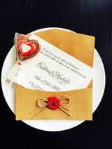 Best selling rustic wedding invitation.