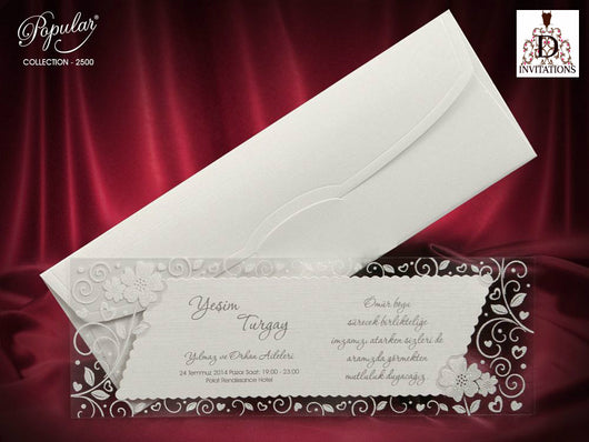 Stunning wedding invitation.