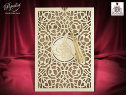 Stunning Asian style laser cut wedding invitation.