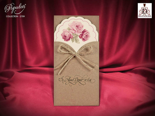 Stunning vintage wedding invitation.