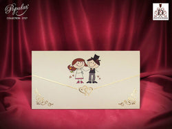 Cute wedding invitation.