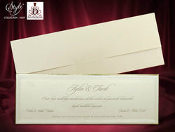 Lxury golden lining wedding invitation uk.