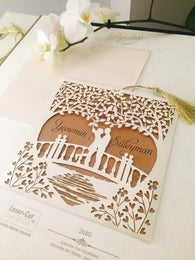 Best selling laser cut wedding invitation.