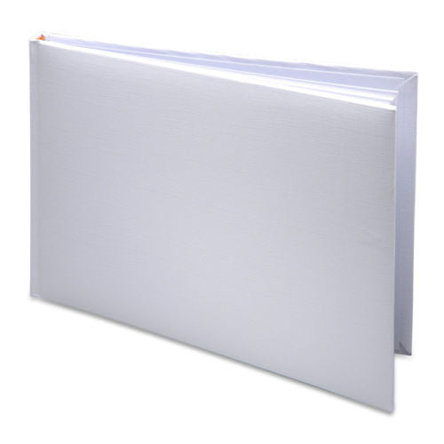 G002  Plain White Guest Book