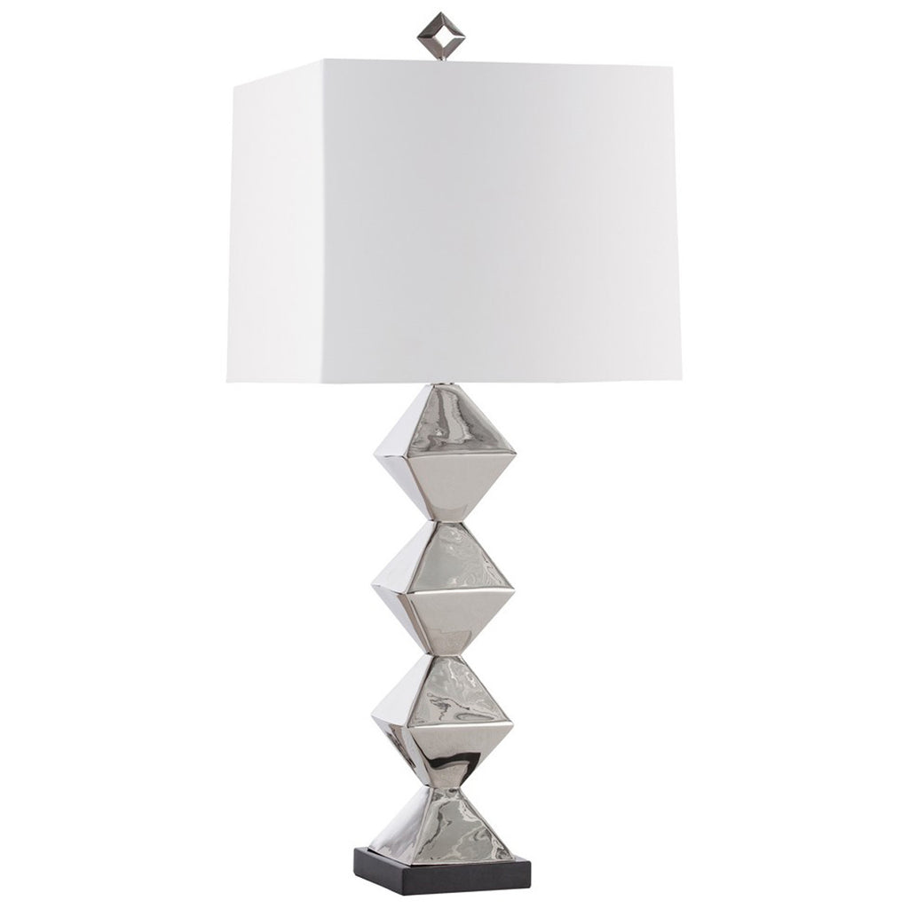 Arteriors Cecilia Polished Nickel Lamp