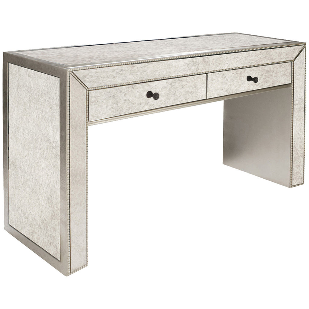 Howard elliott antiqued mirrored console table consoles max howard elliott antiqued mirrored console table geotapseo Image collections