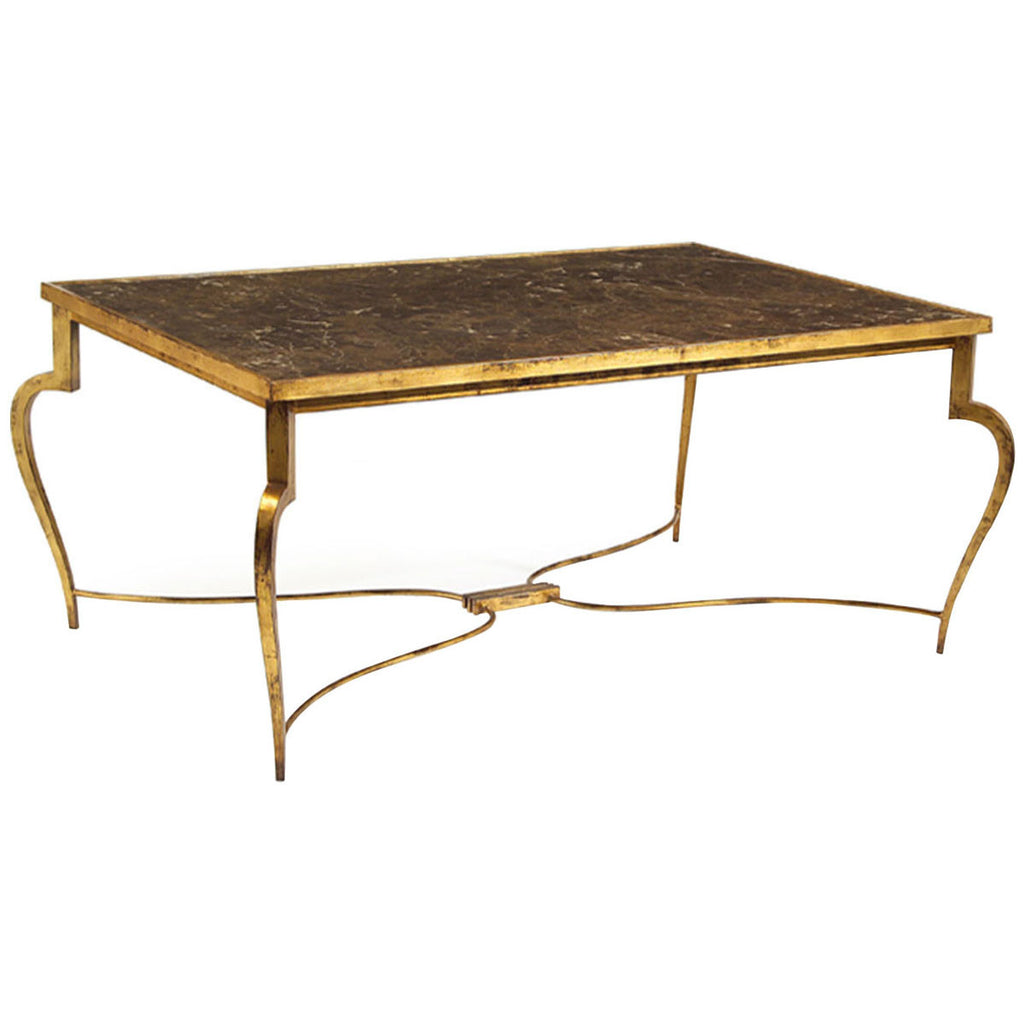 John Richard Cocktail Table Wood And Gold Max And Russ - John richard coffee table