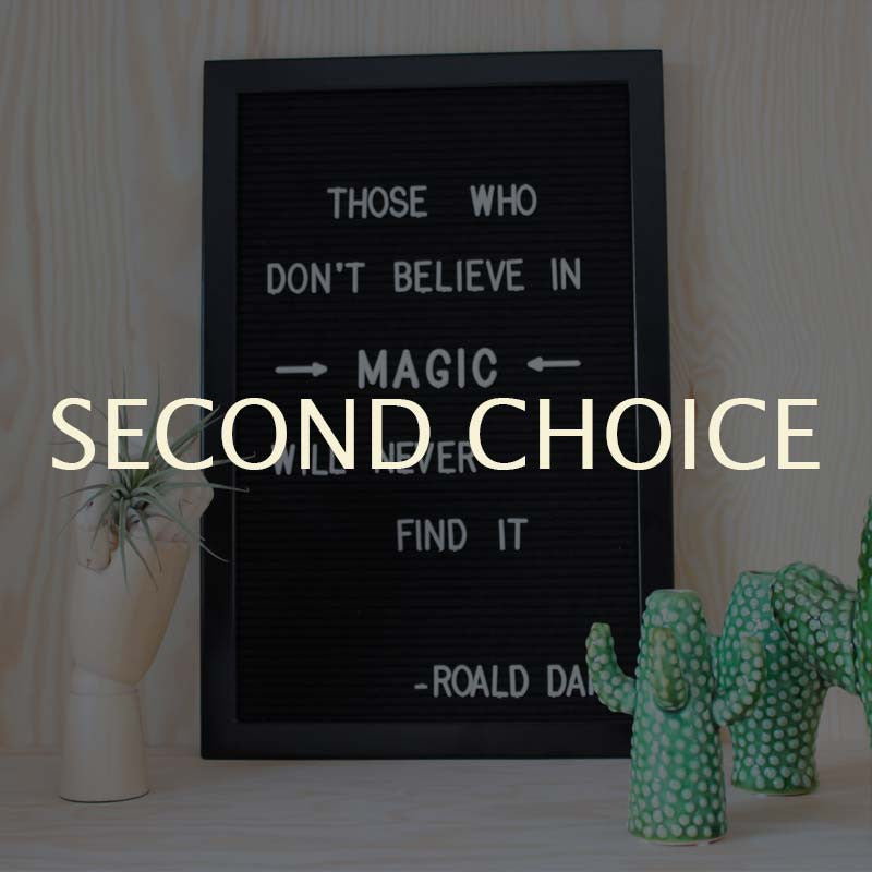 Second choice -25% Black felt letterboard (incl. white letterset)