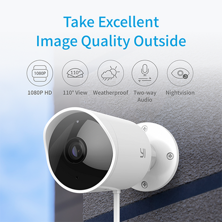 YI Outdoor Security Camera with 6-Month Cloud