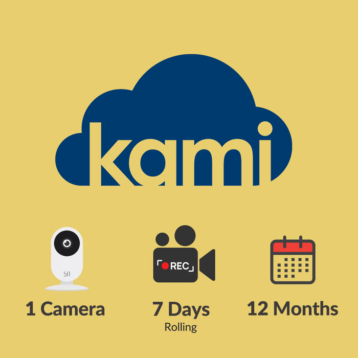 Kami Cloud - 1 camera - 7 days rolling - 12 months