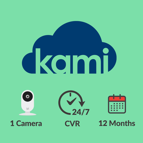 Kami Cloud - 1 camera - 7 days 24-7 video history - 12 months