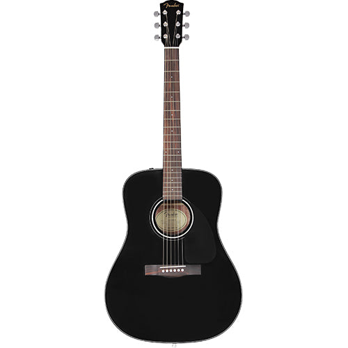 Fender CD-60 Dreadnought V3 w/Case, Walnut Fingerboard, Black