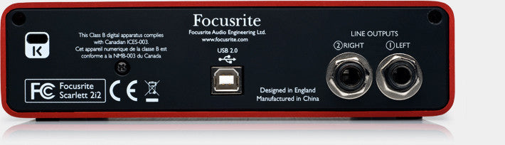 Focusrite Scarlett 2i2 - 2in/2out USB Interface - Quest Music Store
