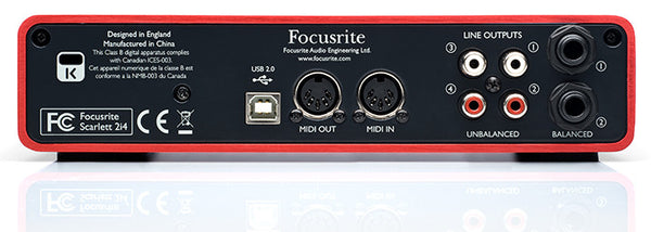 Focusrite Scarlett 2i4 - 2in/4out USB Interface