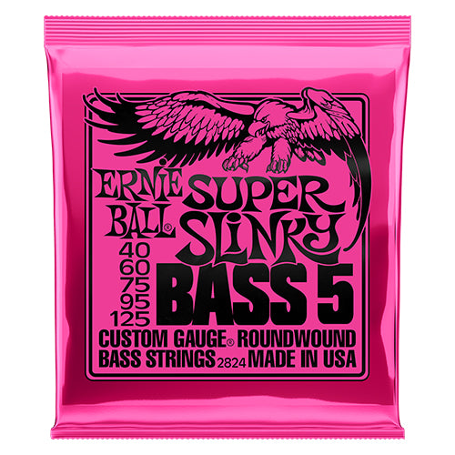 Ernie Ball Super Slinky 5-string Bass Nickel Wound Bass Guitar Strings - Quest Music Store