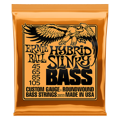 Ernie Ball Hybrid Slinky Bass Nickel Wound Bass Guitar Strings