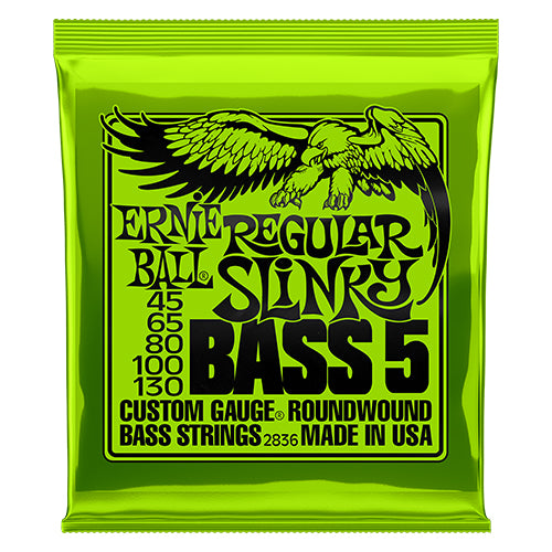 Ernie Ball Regular Slinky 5-string Bass Nickel Wound Bass Guitar Strings - Quest Music Store