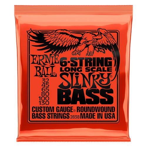 Ernie Ball 6-string Slinky Bass Long Scale Nickel Wound Bass Guitar Strings - Quest Music Store