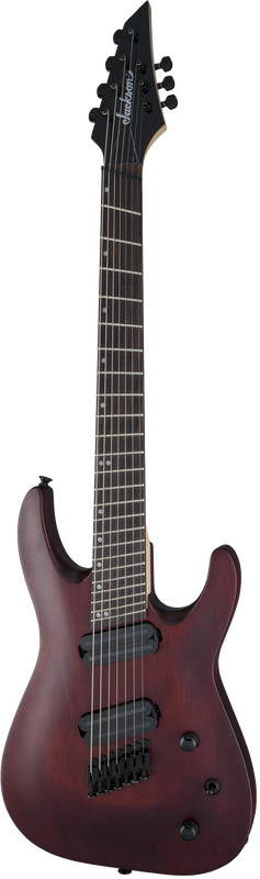 Jackson  X Series Dinky Arch Top DKAF7 MS, Dark Rosewood FIngerboard, Multi-Scale, Stained Mahogany