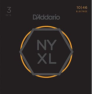 D'Addario NYXL 10-46 - 3 Pack Electric Guitar Strings - Quest Music Store