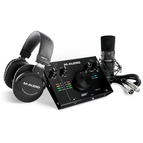 M-Audio AIR 192|4 Vocal Studio Pro Kit with USB Interface, NOVA Black Microphone and HDH40 Headphones