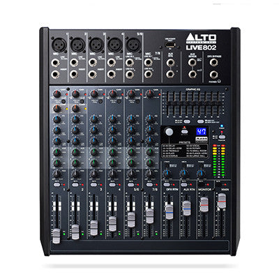 Alto Live 802 8-Channel Mixer - Quest Music Store