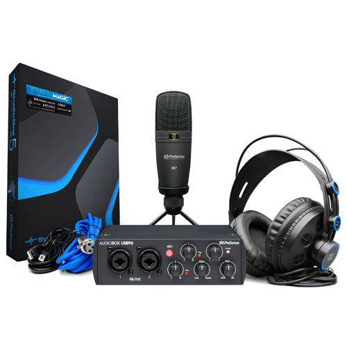 PreSonus AudioBox 96 Studio 25th Anniversary Completel Hardware/Software Recording Bundle