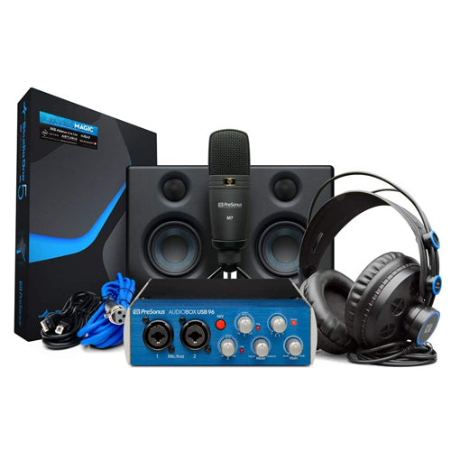 PreSonus AudioBox Studio Ultimate Bundle Deluxe Hardware/Software Recording Collection (25th Anniversary Black)