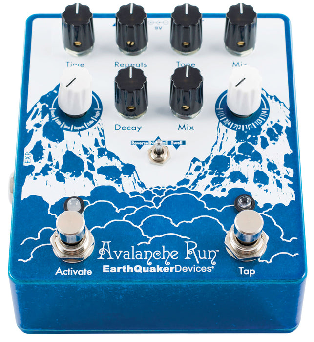 EarthQuaker Avalanche Run Stereo Delay & Reverb with Tap Tempo V2 - Quest Music Store