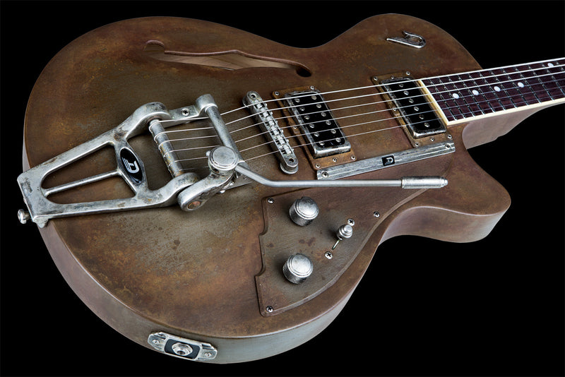 Duesenberg Starplayer TV Rusty Steel - Quest Music Store