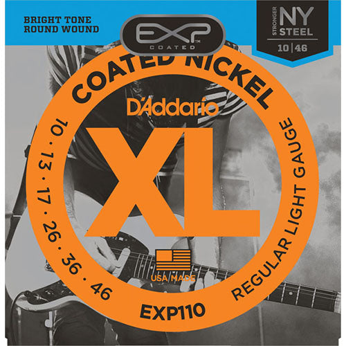 D'Addario EXP110 Coated Nickel Wound, Light, 10-46 - Quest Music Store